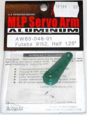 AIR WILD ALLOY SERVO ARM HALF 1.25' SUIT 9152 FUTABA SERVO