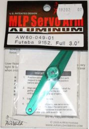 AIR WILD ALLOY SERVO ARM FULL 3' SUIT 9152 FUTABA SERVO