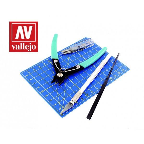 Vallejo Tools 9pc Plastic Modelling Tool set AVT11001