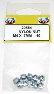 TY1 NYLON NUT M4 X .7MM - 10