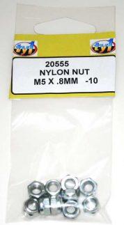 TY1 NYLON NUT M5 X .8MM - 10
