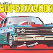 "1:25 1965 CHEVY CHEVELLE WAGON ""SUPER WAGON"" Plastic Model Kit AMT (RAMT701)"