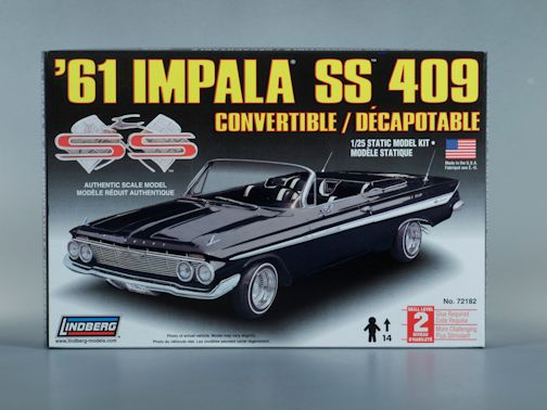 1:25 1961 IMPALA SS 409 CONVERTIBLE Plastic Model Kit LINDBERG (RLIN72182)