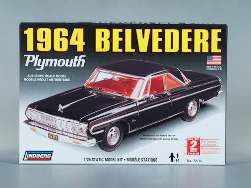 1:25 1964 PLYMOUTH BELVEDERE Plastic Model Kit LINDBERG (RLIN72183)