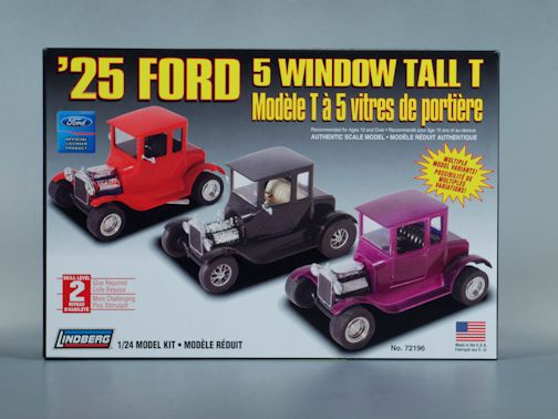 1:25 1925 FORD TALL T 5 WINDOW Plastic Model Kit LINDBERG (RLIN72196)