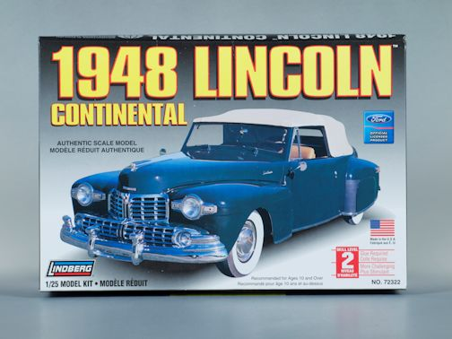 1:25 1948 LINCOLN CONTINENTAL Plastic Model Kit LINDBERG (RLIN72322)