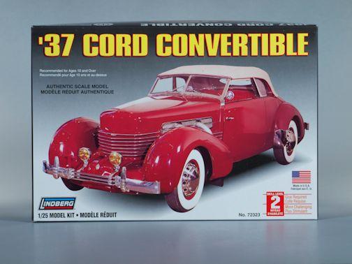 1:25 1937 CORD CONVERTIBLE Plastic Model Kit LINDBERG (RLIN72323)