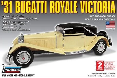 1:24 1931 BUGATTI ROYAL VICTORIA Plastic Model Kit LINDBERG (RLIN72325)