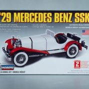 1:24 1929 MERCEDES BENZ SSK Plastic Model Kit LINDBERG (RLIN72326)