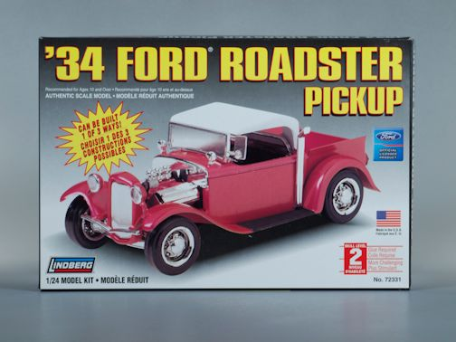 1:24 1934 FORD ROADSTER PICK UP Plastic Model Kit LINDBERG (RLIN72331)