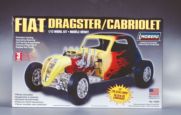 1:12 FIAT DRAGSTER Plastic Model Kit LINDBERG (RLIN73043)