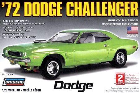 1:25 1972 DODGE CHALLENGER Plastic Model Kit LINDBERG (RLIN73069)