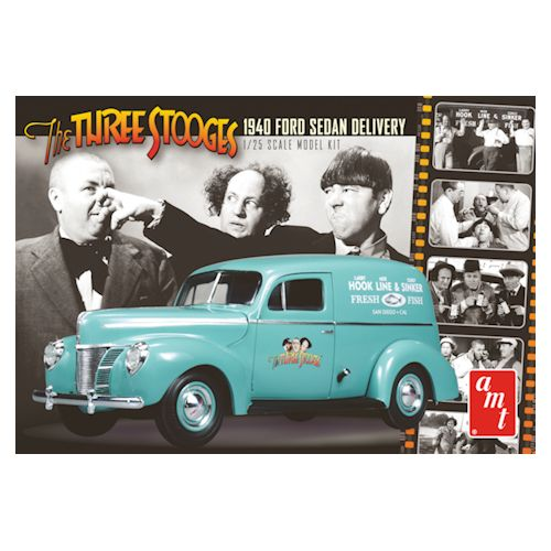 1:25 THREE STOOGES 1940 FORD SEDAN Plastic Model Kit AMT (RAMT791)