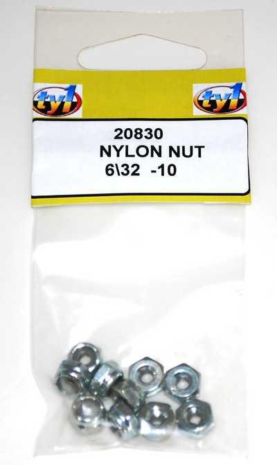 TY1 NYLON NUT 6/32 - 10