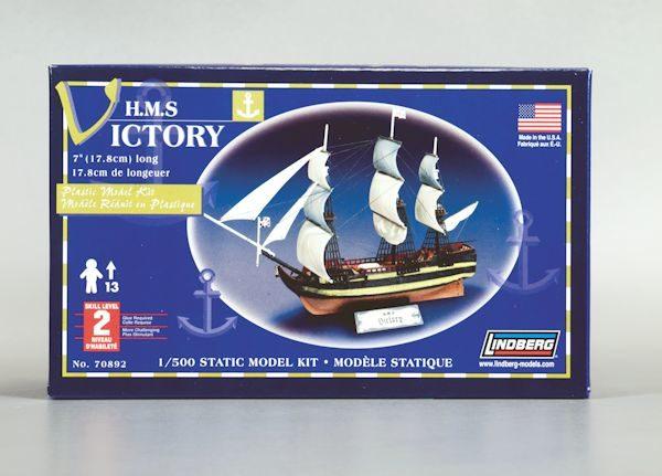 1:500 HMS VICTORY SAILING SHIP Plastic Model Kit LINDBERG (RLIN70892)