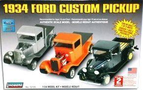 1:25 1934 FORD MODEL T CUSTOM Plastic Model Kit LINDBERG (RLIN72155)