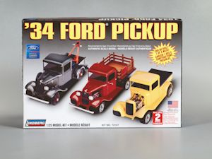 1:25 1934 FORD PICKUP 3IN1 Plastic Model Kit LINDBERG (RLIN72157)