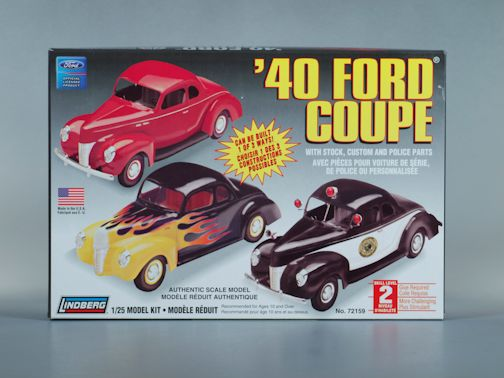 1:25 1940 FORD CUSTOM COUPE Plastic Model Kit LINDBERG (RLIN72159)