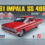 1:25 1961 IMPALA SS 409 HARDTOP Plastic Model Kit LINDBERG (RLIN72163)