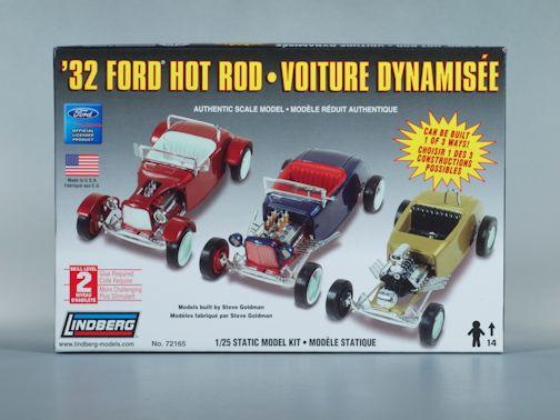 1:25 1932 FORD HOT ROD 3IN1 Plastic Model Kit LINDBERG (RLIN72165)