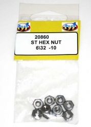 TY1 ST HEX NUT 6/32 - 10