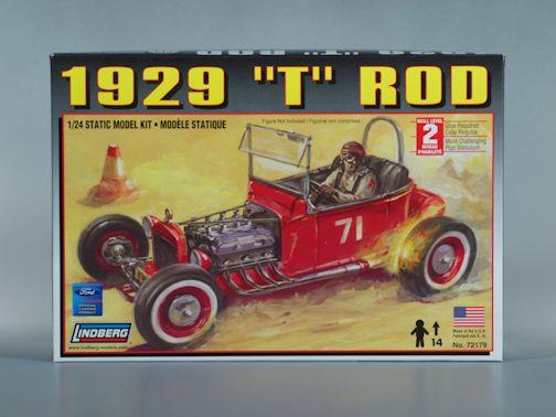 1:25 1929 FORD T ROD Plastic Model Kit LINDBERG (RLIN72179)