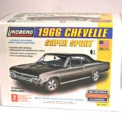 1:25 1966 CHEVY CHEVELLE SUPER SPORT Plastic Model Kit LINDBERG (RLIN72181)