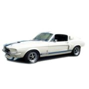 1:25 1967 SHELBY GT350 WHITE Plastic Model Kit AMT (RAMT800)