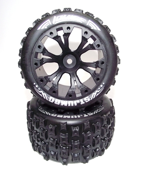 LOUISE ST-JUMBO TYRES+RIMS SUIT TRAXXAS ELECTRIC REAR