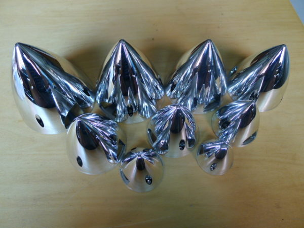 TY1 SPINNER 75MM CHROME TY7575C