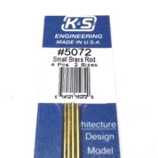 K&S METAL #5072 BRASS ROD 1/16+3/64 12' 2EACH