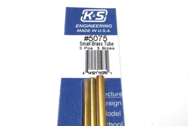 K&S METAL #5075 BRASS TUBE 3/32+1/8+5/32 12'