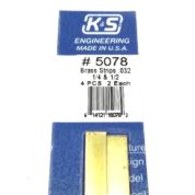 K&S METAL #5078 BRASS STRIP .032+1/4+1/2 12'