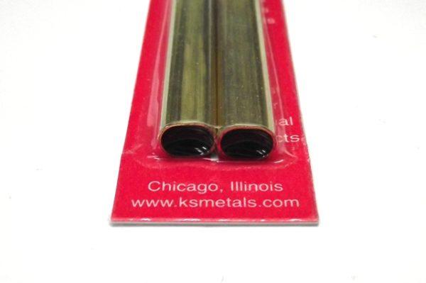 K&S METAL #5094 SMALL BRASS OVAL TUBE 2PCS