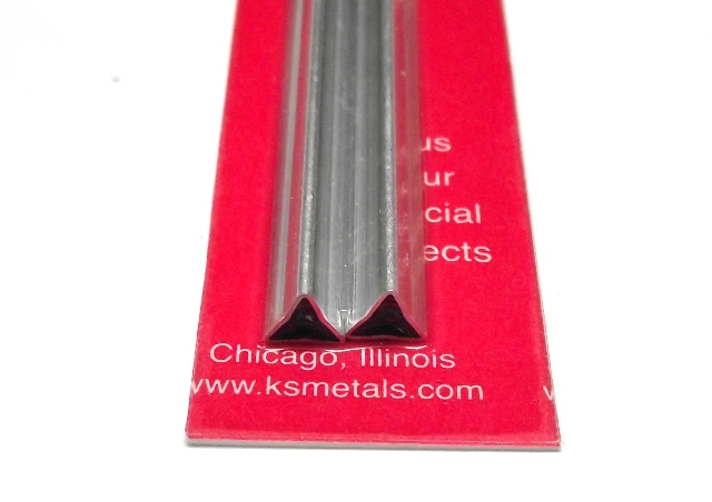 K&S METAL #5098 ALUMINIUM TRIANGLE TUBE 2PCS