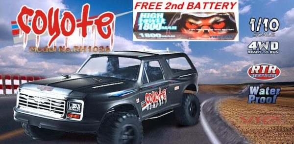 COYOTE RTR EBD BRUSHED SUV (FREE 2nd BATTERY) RIVER HOBBY RH1035