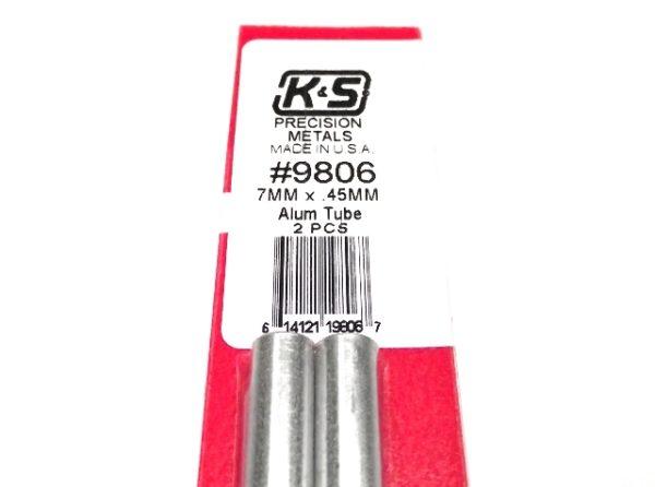 K&S METAL #9806 ALUMINIUM ROUND TUBE 7X300MM 2PCS