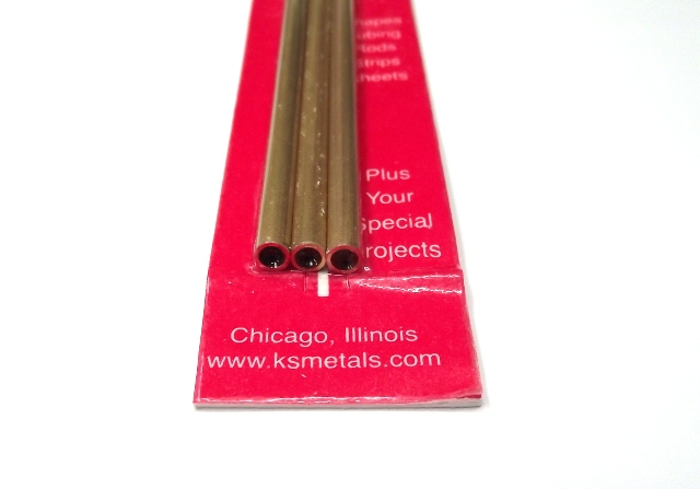 K&S METAL #9822 BRASS ROUND TUBE 4X300MM 3PCS