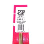 K&S METAL #9831 BRASS ROUND TUBE 1.5X300 4PCS