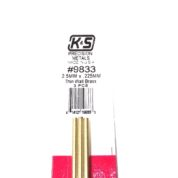 K&S METAL #9833 BRASS ROUND TUBE 2.5X300 3PCS