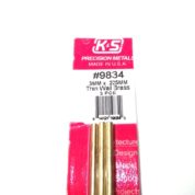 K&S METAL #9834 BRASS ROUND TUBE 3X300 3PCS