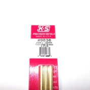 K&S METAL #9836 BRASS ROUND TUBE 4X300 3PCS