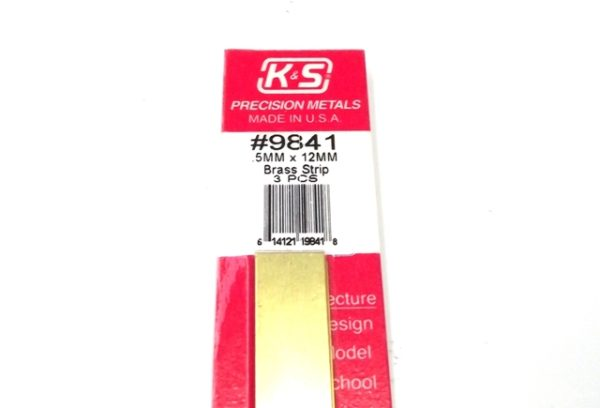 K&S METAL #9841 BRASS STRIP .5X12X300MM 3PCS