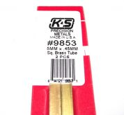 K&S METAL #9853 BRASS SQUARE TUBE 5X300MM 2PCS