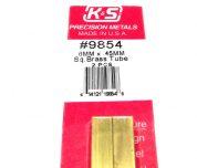 K&S METAL #9854 BRASS SQUARE TUBE 6X300MM 2PCS