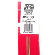K&S METAL #9860 BRASS ROD .5X300MM 5PCS