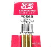 K&S METAL #9866 BRASS ROD 3.5X300MM 3PCS