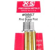 K&S METAL #9867 BRASS ROD 4X300MM 3PCS