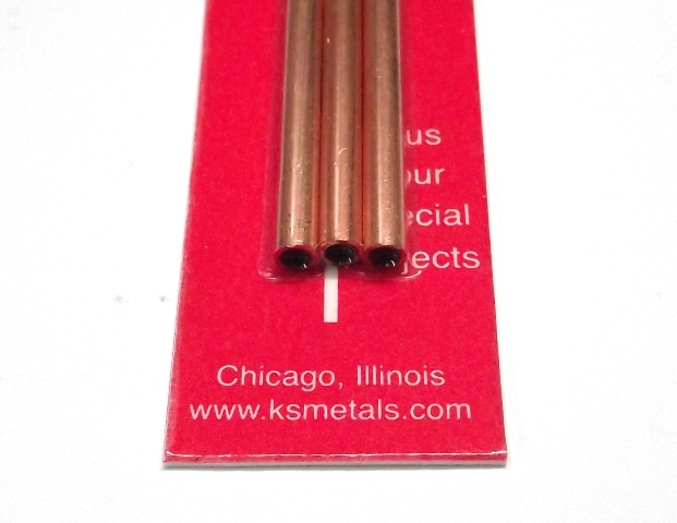 K&S METAL #9872 COPPER ROUND TUBE 4X300MM 3PCS