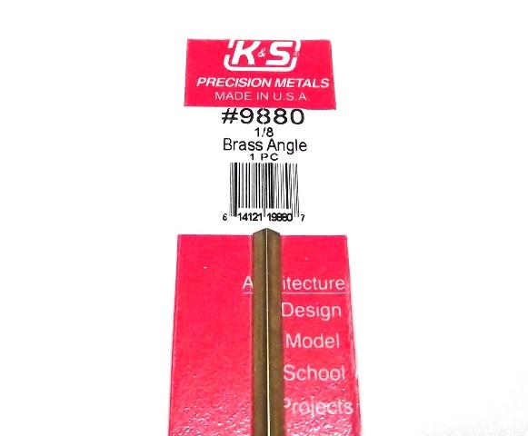 K&S METAL #9880 BRASS ANGLE 1/8X300MM 1PCS